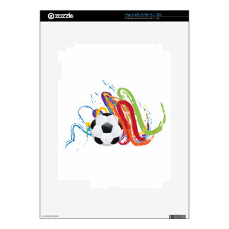 Soccer Ball with Brush Strokes 2 Decals For iPad 2