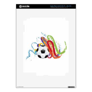 Soccer Ball with Brush Strokes 2 iPad 3 Skin