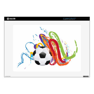 Soccer Ball with Brush Strokes 2 Laptop Skins