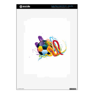 Soccer Ball with Brush Strokes Decal For iPad 3