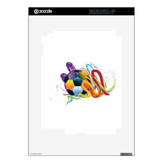 Soccer Ball with Brush Strokes Skin For iPad 2
