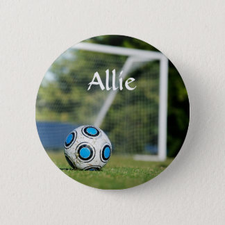 Soccer Ball with Goal Button