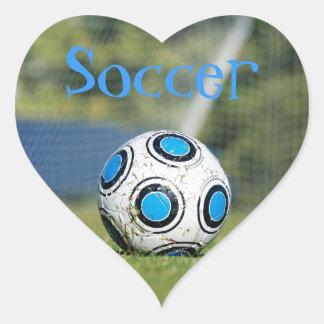 Soccer Ball with Goal Heart Sticker