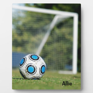 Soccer Ball with Goal Plaque
