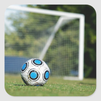 Soccer Ball with Goal Square Sticker