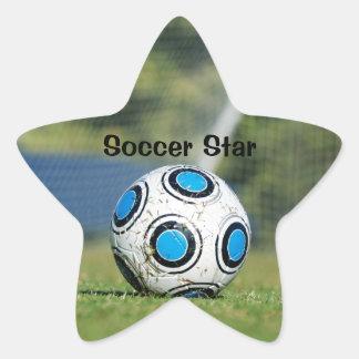 Soccer Ball with Goal Star Sticker