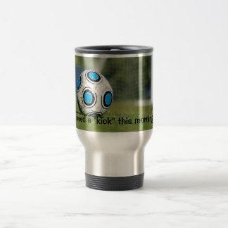 Soccer Ball with Goal Travel Mug