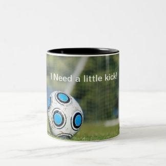 Soccer Ball with Goal Two-Tone Coffee Mug