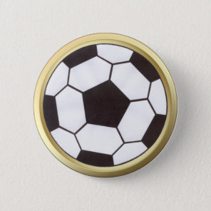 Soccer ball with gold trim button