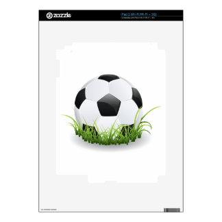 Soccer Ball with Grass Decals For iPad 2