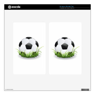 Soccer Ball with Grass Decals For Kindle Fire