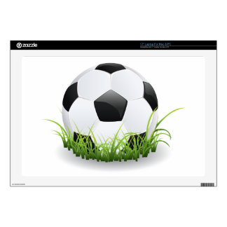 """Soccer Ball with Grass Skin For 17"""" Laptop"""
