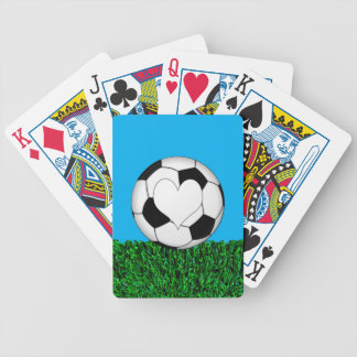 Soccer Ball with heart customizeable Bicycle Playing Cards