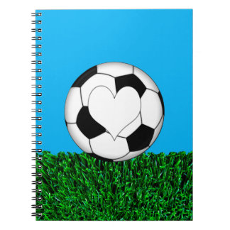 Soccer Ball with heart customizeable Notebook