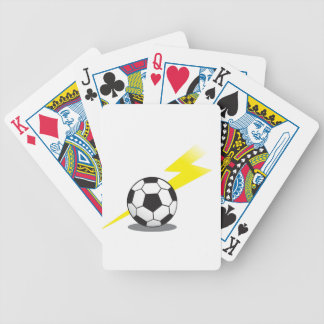 Soccer ball with lightning bolt bicycle poker deck