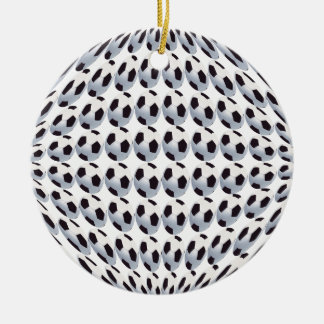 Soccer Ball World Ceramic Ornament