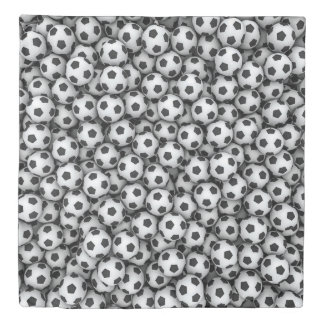 Soccer Balls (1 side) Queen Duvet Cover