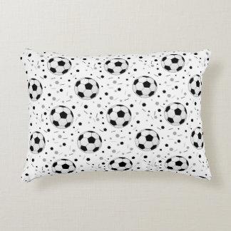 Soccer balls accent pillow