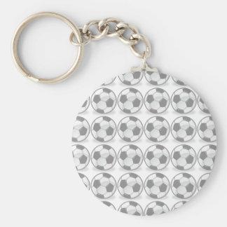 Soccer balls basic round button keychain