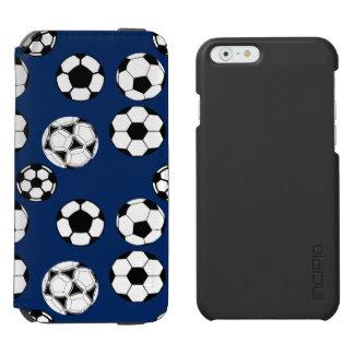 Soccer balls boys blue iPhone 6/6s wallet case
