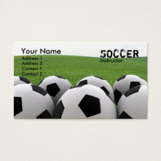 Soccer Balls Business Card at Zazzle