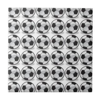 Soccer balls ceramic tile