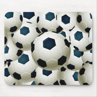 SOCCER BALLS COLLAGE MOUSE PAD