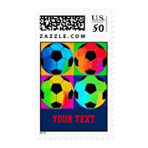 Soccer Balls Customizable Postage