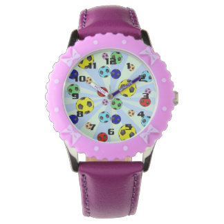 Soccer Balls Easy To read Large Numbers Wrist Watches