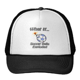 Soccer balls exploded trucker hat