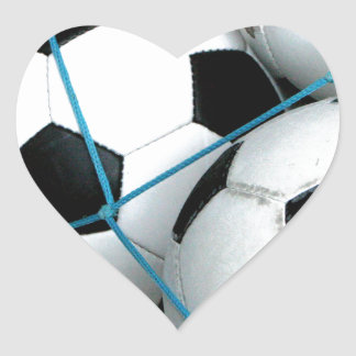 Soccer Balls Heart Sticker