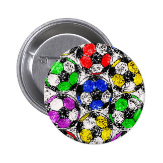 SOCCER BALLS IN CHAOTIC COLOR BUTTON