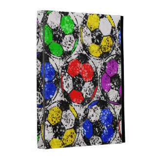 SOCCER BALLS IN CHAOTIC COLOR iPad CASES