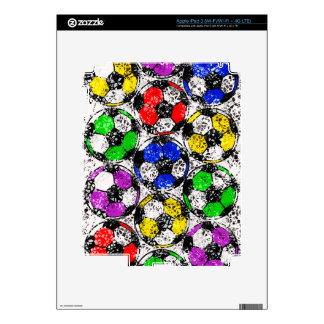 SOCCER BALLS IN CHAOTIC COLOR iPad 3 SKINS