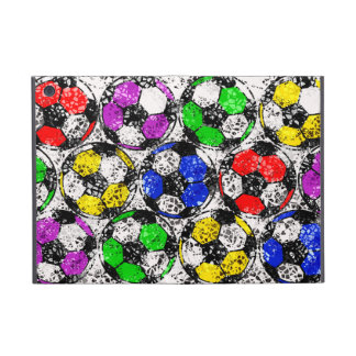 SOCCER BALLS IN CHAOTIC COLOR iPad MINI CASES