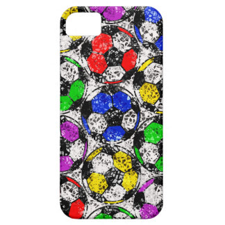 SOCCER BALLS IN CHAOTIC COLOR iPhone SE/5/5s CASE