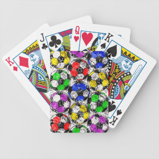SOCCER BALLS IN CHAOTIC COLOR BICYCLE PLAYING CARDS