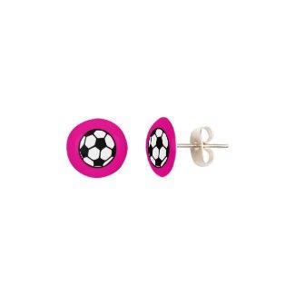 Soccer Balls on Pink
