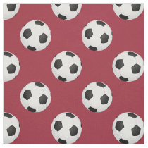 soccer balls on your choice background color fabric