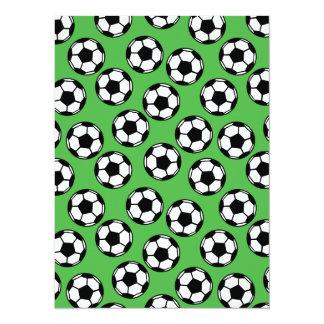Soccer Balls Pattern Card