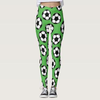 Soccer Balls Pattern Leggings