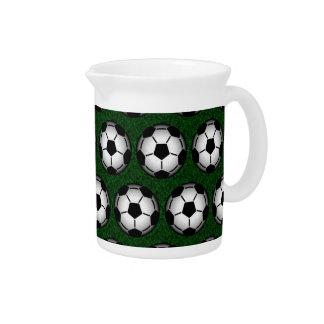 Soccer balls pattern pitchers