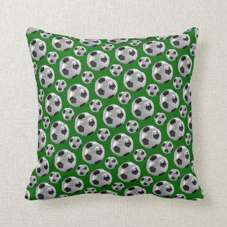 Soccer balls throw pillows