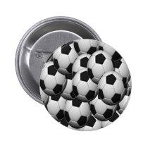 SOCCER balls Pinback Button