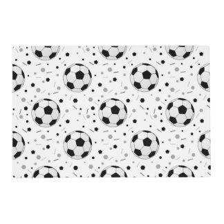 Soccer balls placemat
