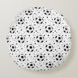 Soccer balls round pillow