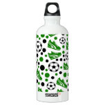 Soccer Balls, Shoes, Polka Dots Water Bottle