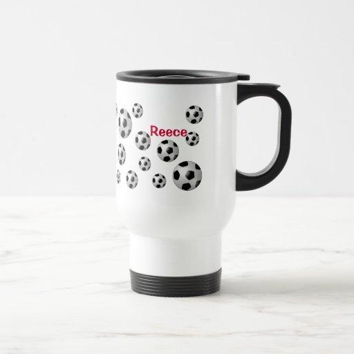 Soccer Balls Sports Lover Personalized Steel Mug