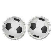 Soccer Balls Sports pattern Cufflinks
