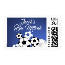 Soccer Balls Sport's Stamp with Custom Text